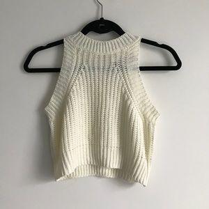 Akira Chicago Knit Crop Sweater